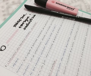 study, pretty notes, and study inspiration image