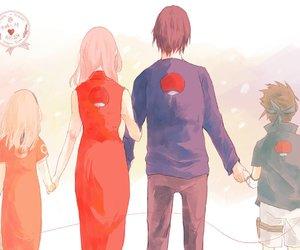 anime, sasusaku, and cute image