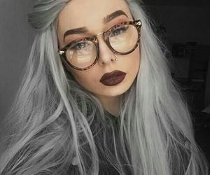 girl, grey hair, and tumblr girl image