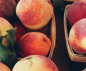 peach, fruit, and wallpaper image
