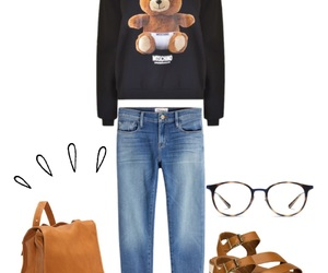 bags, brown, and glasses image
