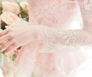 flowers, beautiful, and dress image