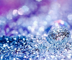 glitter, blue, and sparkle image