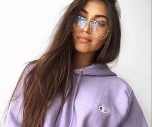 girl, glasses, and style image