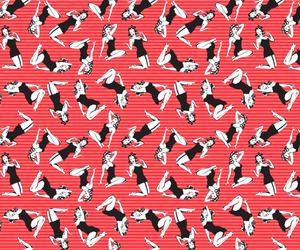 background, girl, and pattern image