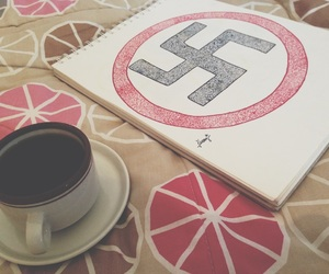 art, caffe, and hitler image