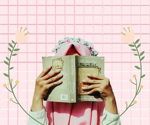 bookish, pink, and books image