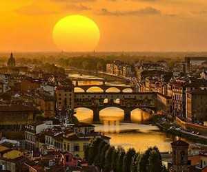 florence, italy, and sunset image