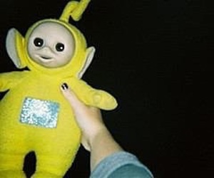 grunge, yellow, and teletubbies image