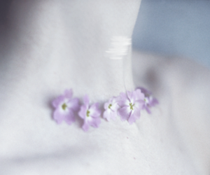 flowers, pale, and neck image