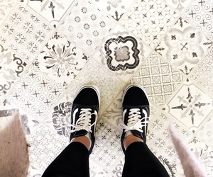 basket, black and white, and tile image