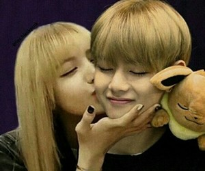 kiss, blackpink, and lalisa manoban image
