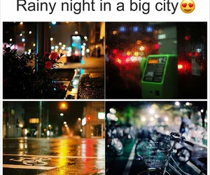 big city, nights, and rain image