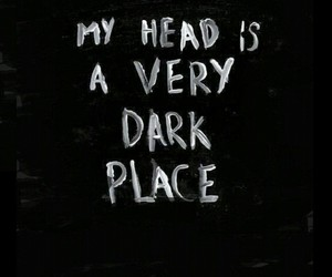 dark, black, and head image