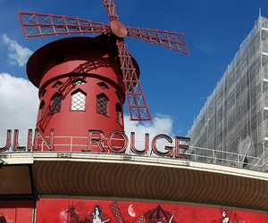 cabaret, moulin rouge, and red image