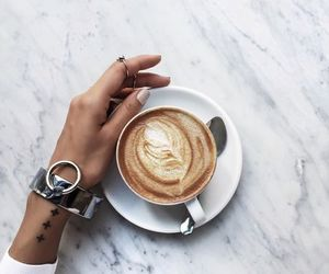 coffee, tattoo, and white image