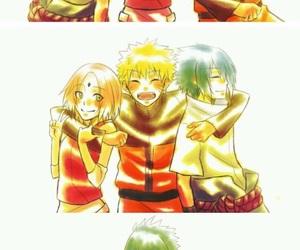 embrace, naruto, and sasuke uchiha image