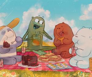 we bare bears, cartoon, and ice bear image