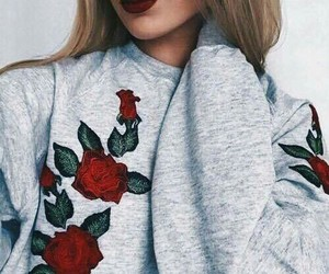 fashion, rose, and style image