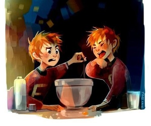 fred and george and harry potter image