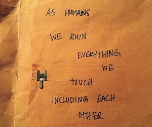 quotes, humans, and sad image