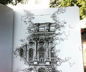 drawing, ink, and art architecture image