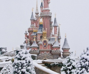 snow, disney, and winter image