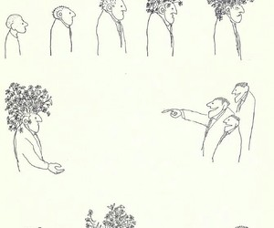 thoughts, flowers, and thinker image