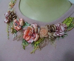 embroidery and flower image