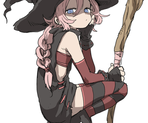 anime, anime girl, and witch image