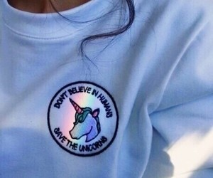 unicorn, rainbow, and tumblr image