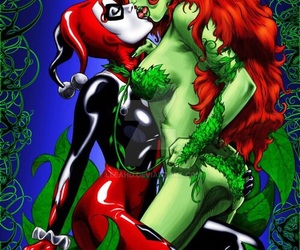 poison ivy, comic, and harley quinn image