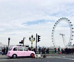 car, london, and london eye image