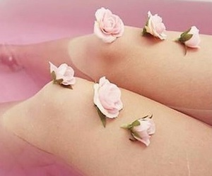 bath, legs, and pink image