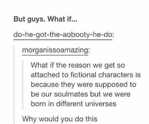 fandom, soulmates, and tumblr image