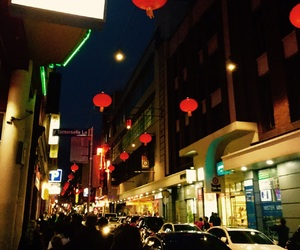 china town, melbourne, and night image