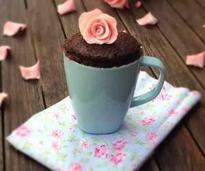chocolate, cute, and mugcake image