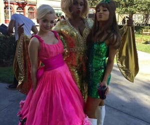 ariana grande, dove cameron, and hairspray live image