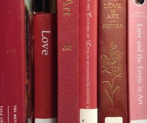 red, book, and love image