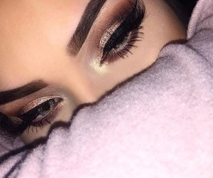 eyebrows, eyeliner, and goals image