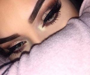 eyebrows, eyeliner, and girl image