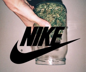 nike, weed, and marijuana image