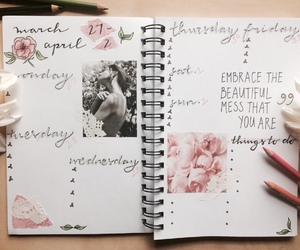 spring, flowers, and journal image