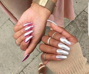chrome, girls, and nails image
