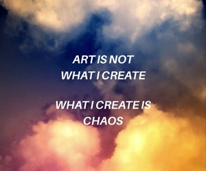 art, colors, and quote image