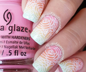 flowers, foral, and nails image