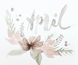 april, flowers, and happines image