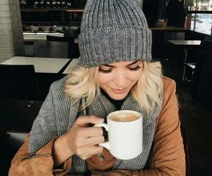 coffee, fashion, and autumn image