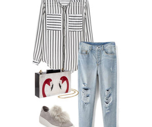 blouse, fashion, and Polyvore image