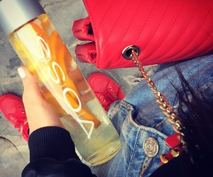 girly, red, and voss image